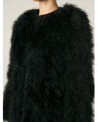Giorgio Brato - Black Feathered Oversize Coat - Lyst