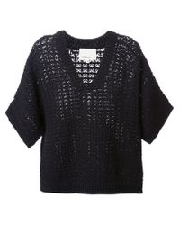 3.1 Phillip Lim - Blue Short Sleeved Sweater - Lyst