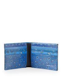 Etro - Multicolor Paisley Bifold Wallet for Men - Lyst