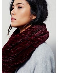 Free People | Red Womens White Cap Cowl | Lyst