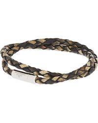 Tateossian | Xxv Anniversary Scoubidou Double-wrap Bracelet, Men's, Brown 1 for Men | Lyst