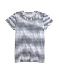 J.Crew - Blue Short-sleeve Painter T-shirt In Stripe - Lyst
