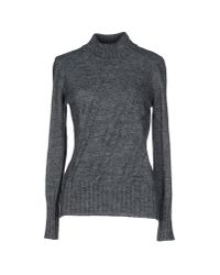MILLY - Gray Turtleneck - Lyst