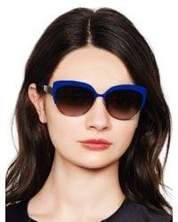 Kate Spade | Blue Raelyn Sunglasses | Lyst