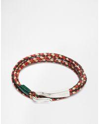 Ted Baker - Green Plaited Wrap Leather Bracelet for Men - Lyst