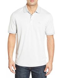 Tommy Bahama - White 'ocean View' Short Sleeve Jacquard Polo for Men - Lyst