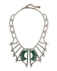 DANNIJO - Multicolor Parker Crystal Bib Necklace - Lyst