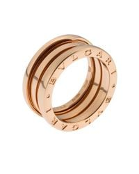 BVLGARI - Metallic Women's B.zero1 18k Rose Gold Ring Size 6 - Lyst