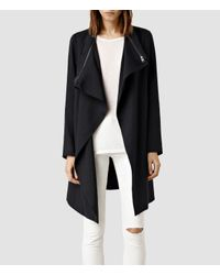 AllSaints | Blue Iona Coat | Lyst