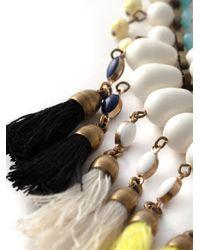 Isabel Marant - White Tassel Necklace - Lyst