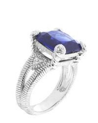 Judith Ripka | Metallic Corundum & Diamond Fontaine Sterling Silver Ring Size 8 | Lyst