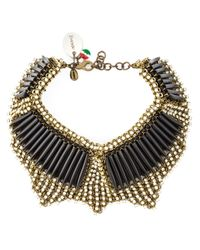 Sveva Collection | Metallic Embellished Choker | Lyst