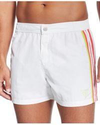 Guess | White Short Board Swim Trunks for Men | Lyst