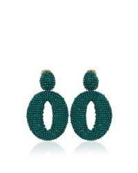 Oscar de la Renta | Green Oscar O Earrings | Lyst
