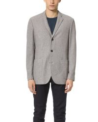 Shades of Grey by Micah Cohen | Gray Knit Blazer for Men | Lyst