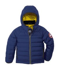 Canada Goose - Blue Bobcat Hooded Quilted Coat - Lyst