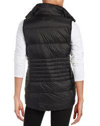 Calvin Klein - Black Fleece Collar Puffer Vest - Lyst
