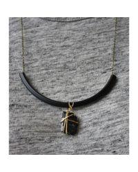 Spectrum | Black Jet Curve Necklace | Lyst