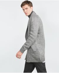 Zara | Gray Cardigan for Men | Lyst