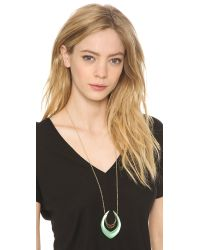 Alexis Bittar - Green Double Crescent Pendant Necklace - Lyst