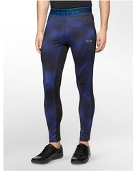 Calvin Klein | Blue White Label Performance Dot Stretch Compression Pants | Lyst