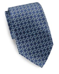 Burma Bibas | Blue Link-print Silk Tie & Gift Box for Men | Lyst