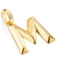 Monica Vinader - Metallic Gold-plated Alphabet Pendant M - Lyst