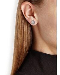 Marc By Marc Jacobs - Metallic Logo Disc-o Silver Tone Stud Earrings - Lyst