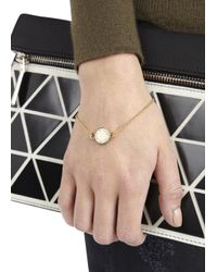 Marc By Marc Jacobs | Metallic Marc Cream Enamel Disc Bracelet | Lyst