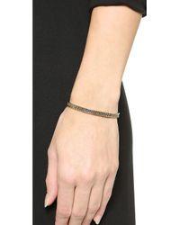 Eddie Borgo | Metallic Pave Id Toggle Bracelet - Gold | Lyst