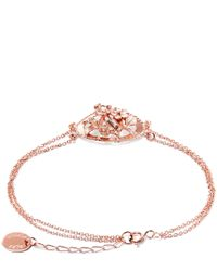 Alex Monroe - Pink Rose Gold-plated Oval Wild Strawberry Cluster Cameo Bracelet - Lyst