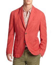 Slowear - Red Chinolino Sportcoat for Men - Lyst