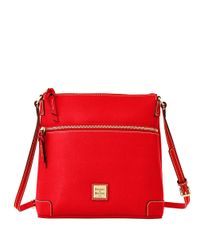 Dooney & Bourke | Red Saffiano Leather Crossbody | Lyst