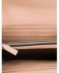 Emporio Armani - Pink Logo Embossed Wallet - Lyst