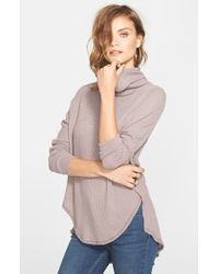 Free People | Natural 'kristina' Drippy Thermal Top | Lyst