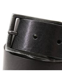 Armani Jeans | Black Belt Classic Buckle Leather for Men | Lyst