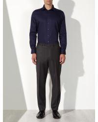 John Lewis - Black Satin Dobby Tailored Shirt for Men - Lyst