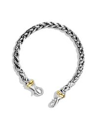 David Yurman - Metallic Armory Single Row Id Bracelet With 18k Gold - Lyst
