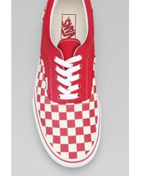 55e6b0d684 Lyst - Urban Outfitters Vans Era Checkerboard Mens Sneaker in Red ...