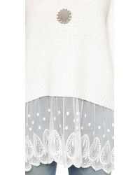 Raga - White Night Drive Sweater - Lyst