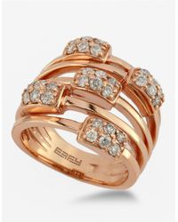 Effy | Pink Pave Rose 14kt. Rose Gold Diamond Ring | Lyst