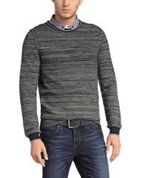 BOSS Orange | Blue Sweater 'kraig' In Cotton Blend for Men | Lyst