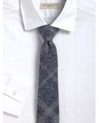 Burberry - Gray Rohan Plaid Tie for Men - Lyst