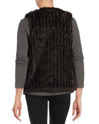 BB Dakota | Black Keith Textured Faux Fur Vest | Lyst