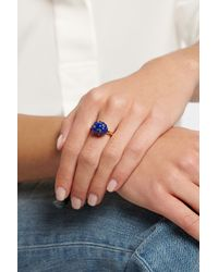 Bibi Van Der Velden Blue Cloud 18-Karat Gold Lapis Lazuli Ring