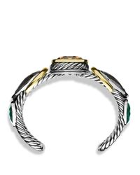 David Yurman - Metallic Viridian Cuff With Smoky Quartz, Gray Sapphires, And Gold - Lyst