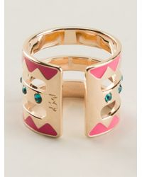 Maria Francesca Pepe - Multicolor Three Band Ring - Lyst