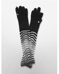 Calvin Klein | Black White Label Wave Stitch Arm Warmer Gloves | Lyst