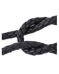 Lanvin - Black Quartz Pendant Necklace - Lyst