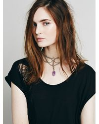 Free People - Purple Regal Rose Womens Apsis Choker - Lyst